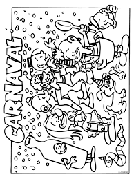 Kleurplaat Carnaval Kleurplatennl