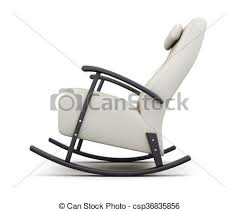 rocking chair drawing. Rocking Chair Isolated On White Background. Side View. 3d Render - Csp36835856 Drawing