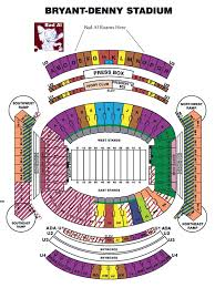 Alabama Florida State Seating Chart Bryant Denny Stadium Seating Chart Layout