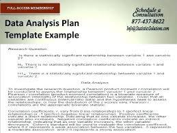 Statistical Analysis Report Format Statistical Report