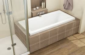 66 x 32 x 23 5 broadway acrylic deck mount alcove bathtub