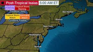 Tropical Storm Isaias Sputtering in ...