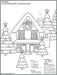 Multiplication Color By Number Sheets Christmas | Coloring Page
