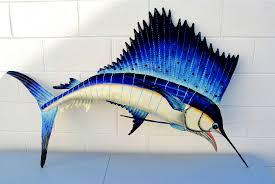 large metal sea life wall art