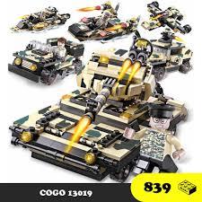 Bộ 8 hộp lắp ráp Quân đội chiến đấu xe tăng thiết giáp COGO 13019 - Đồ chơi  Lego lắp ráp trí tuệ