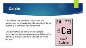 Resultado de imagen para electrolito: calcio