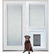 exterior doors with glass and blinds. patio french back doors with internal mini-blinds and pet doggy door insert pre- exterior glass blinds n