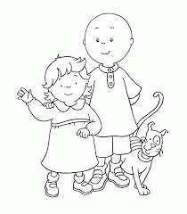 12 Coloring Pages Of Caillou Print Color Craft For Caillou Coloring
