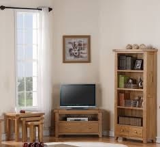 Oak Cabinets Living Room Devon Solid Oak Living Room Furniture Corner Tv Dvd Cabinet Stand