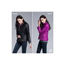 furandown winter womens two side white duck down jacket warm winter coats parkas lightweight down jackets size s color black and purple