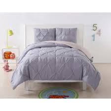 anytime pleated lavender twin xl comforter set cs2016lbtx 1500 the home depot