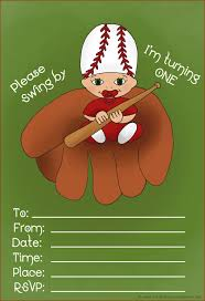 cute printable baby invite for first birthday daddy s favorite baseball theme