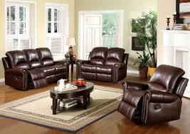 Living Room Furniture Sets For Charming Decoration Brown Leather Living Room Set Winsome Ideas