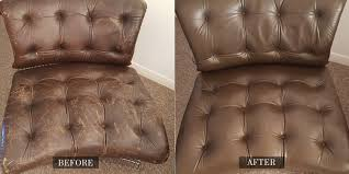 Leather Couch Restoration Before And After Gallery Leather Medic