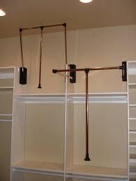 pull down closet rod closet rods