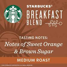 Loaded with flavor, balancing tastes of nut and cocoa, just a touch of sweetness from the roast. Amazon Com Starbucks Medium Roast Ground Coffee Breakfast Blend 100 Arabica 1 Bag 20 Oz Grocery Gourmet Food