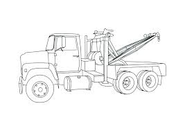 Flatbed Truck Coloring Page Dump In Semi Pages School Amazing Ideas ...