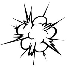 爆発のイラスト素材 無料商用可能マンガ素材 イラレ用epsとpng