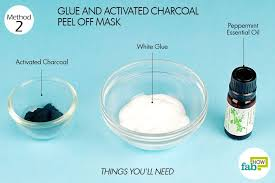 things you ll need to make diy l off mask usingglue activated charcoal