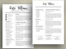 Teacher Resume Template Enchanting Modern Teacher Resume Cv Template For MS PowerPoint Pptx By