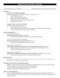 Easy Resume Cover Letter For Court Clerk For Your Records Clerk