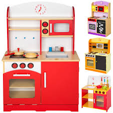 wooden childrens kids kitchen pretend role play cooking toys