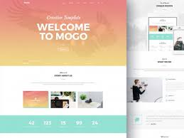 Free Website Template Cool MoGo Free One Page PSD Template Freebiesbug