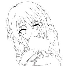 Small Picture Free Coloring Pages Of Animeanime Girl Cute 601 Bestofcoloringcom