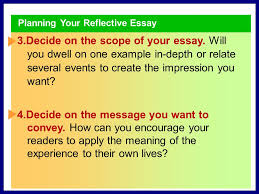 sharing your experience from reading to writing in their essays  planning your reflective essay 1 think about your experience