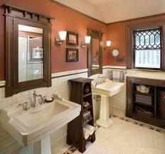 terrific bathroom shelves craftsman bathroom amazing ideas with storage and pedestal sink