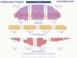 Ambassador Theatre Seating Chart Ambassador Theatre On Broadway In Nyc