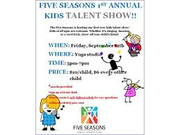 five seasons burr ridge opens sept 12th kids talent show to public