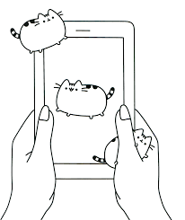 Pusheen Cats Coloring Pages