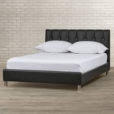 furniture fabulous Build Platform Bed frames Queen in classy black faux  leather upholstered headboard standing on