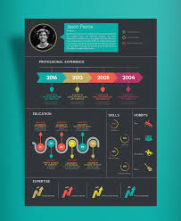Free Creative Infographic Resume Template With Cover Letter Indd
