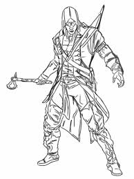 Ghost Assassins Creed Coloring Pages Print Coloring