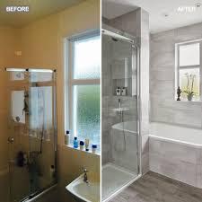 bathroom make over. silver-grey-bathroom-makeover-separate-shower-split bathroom make over e