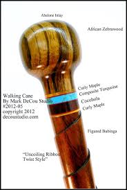 Decorative Cane Balls Inspiration Custom Walking Cane Stick Hiking Ball Top Knob Twist Bubinga