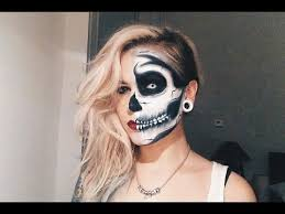half skeleton makeup tutorial