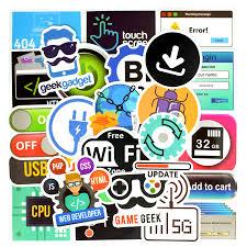 50 Pcs Programming Sticker Technology Software Programs Data