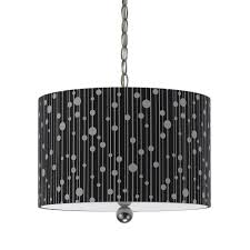 pendant drum shade lighting af lighting drizzle collection 3 light nickel steel drum pendant with black chandeliers pendants wayfair drum lighting