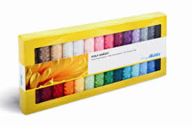 Mettler Ps28 Polysheen 40wt Embroidery Thread Gift Pack Kit 28 Solid Colors X 220 Yard Spools