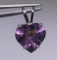 purple spinel heart shaped pendant 14kt white gold to expand