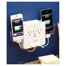 Cell Phone Charging Station iPhone Wall Charger Outlet Storage Organizer  Travel