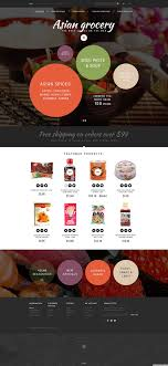 Asian Online Grocery Store Asian Grocery Store Opencart Template Typography Design