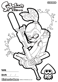 Free Coloring Pages Of Splatoon Sketch Coloring Page Birthday