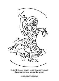Kleurplaat Danseres Spelletjes