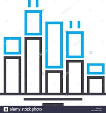 Icon Bar Chart Bar Chart Vector Thin Line Stroke Icon Bar Chart Outline