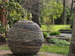 Small Picture Stacked Stone Garden Sphere Garden Design