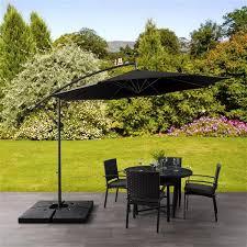 corliving offset patio umbrella black